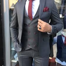 aea70a31ff0a6 Erkek Takım Elbise Slim Fit Kruvaze Yelek - A'dan Z'ye Giyim Mimarı